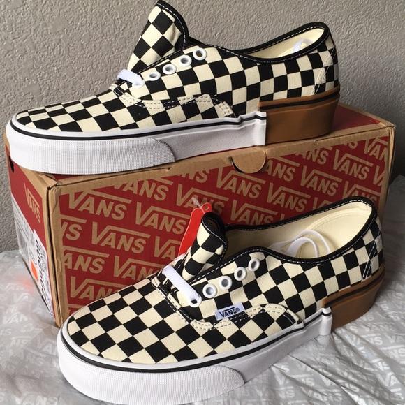 2312d1ea1c Vans Authentic Gum Block Checkerboard lady9